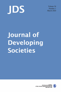 Journal of Developing Societies cover