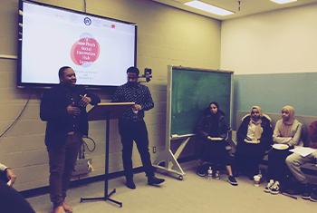 students in seminar