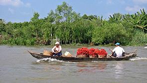 mekong river delta in vietnam