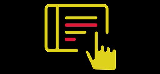 illustration of clicking link