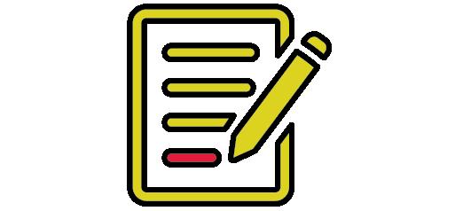 illustration of list on paper