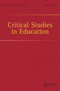 critical studies in education book cover