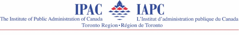 Institute of Public Administration of Canada Toronto Region Logo in french and english