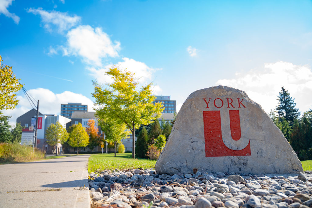 YorkU West Entrance Stone pic