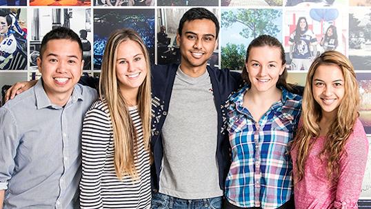 Students of YU program smile after completing skills program