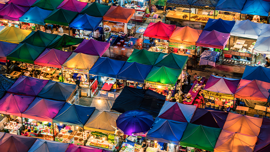 colourful night marks in asia