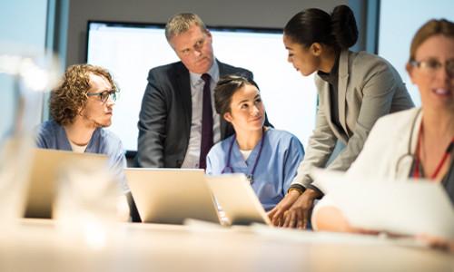 consultation between medical professionals