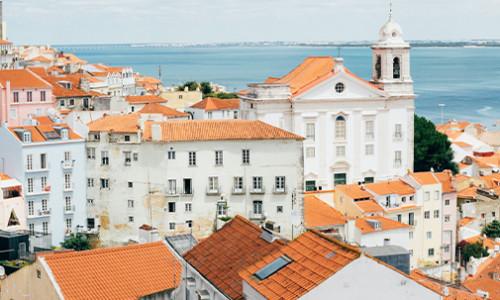 quaint, traditional portuguese coastal town