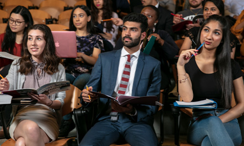 students listening attentively in lecture