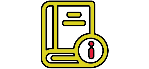 book with information icon infographic