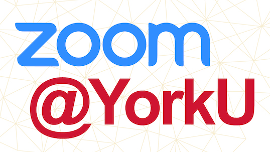 Zoom video conferencing logo above at YorkU text
