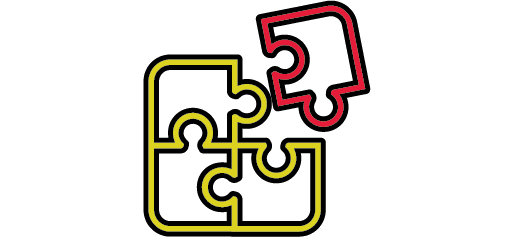 yellow and red puzzle piece icons