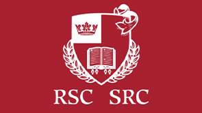 Red and white Royal Society of Canada logo