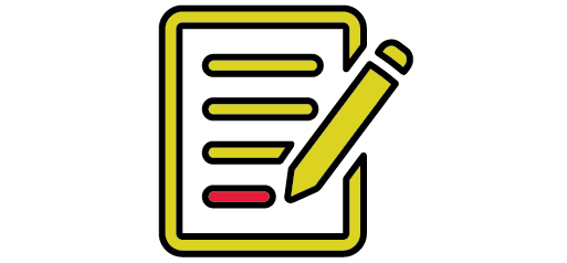 paper icon with pencil writing