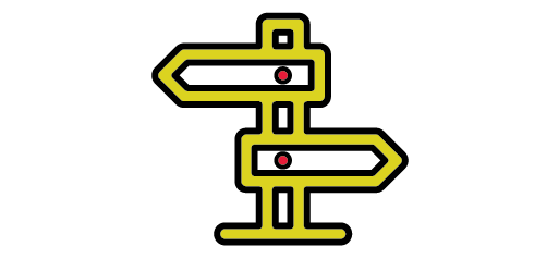 sign post with arrows pointing left and right