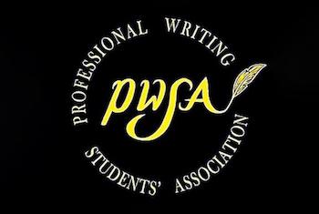 Professional Writing Students' Association logo on black background
