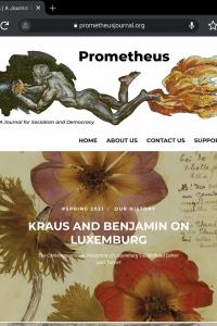 Screenshot of Kraus and Benjamin on Luxemburg article on Prometheus Journal website