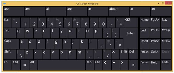 Comparing a Scanning Ambiguous Keyboard to the On-screen