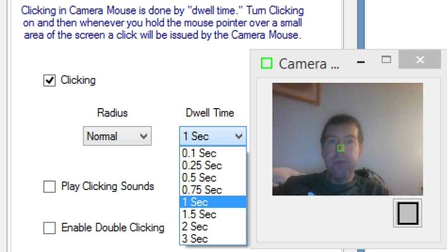 Camera Mouse + ClickerAID: Dwell vs  Single-Muscle Click Actuation