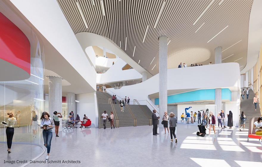 rendering of the new markham hall