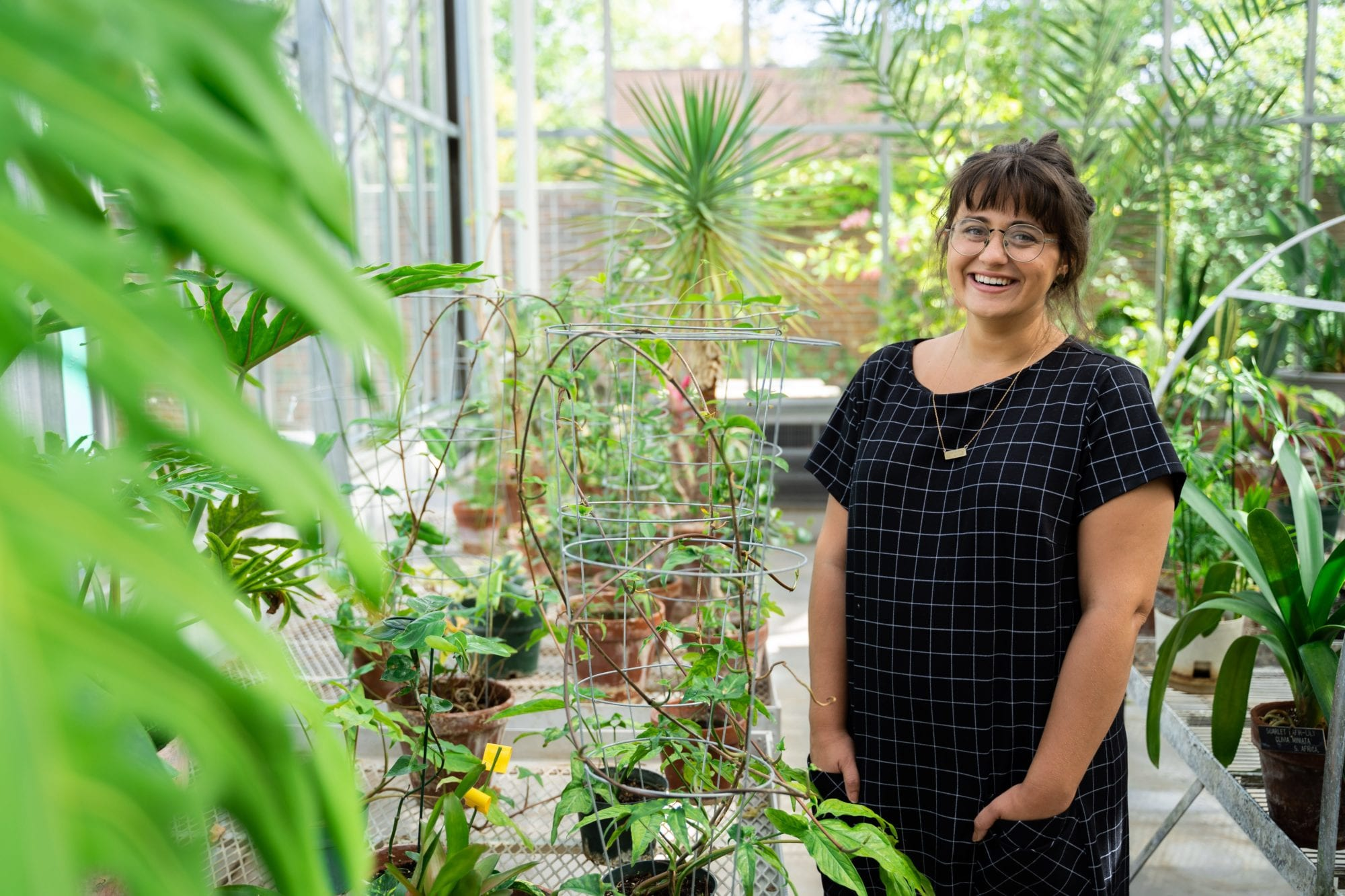 malory in greenhouse