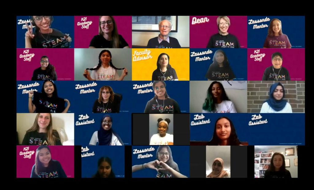 Lassonde hosted 16 high school students for the Helen Carswell STEAM Program for Women