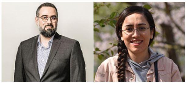 From the left: Ali Sadeghi-Naini and Khadijeh Saednia