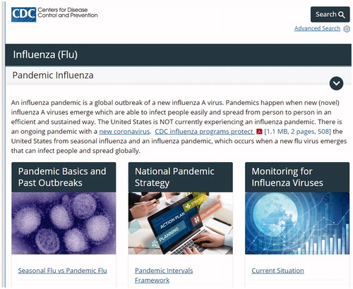 CDC definition of influenza