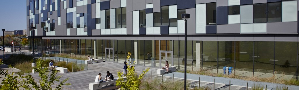 York University Life Science's Building Terrace
