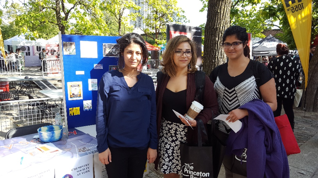 Chemistry Society at York table at YorkFest in 2016