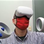 Kyle Belozerov wearing VR headset