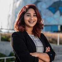 Professional shot of student Auyonika Choudhury
