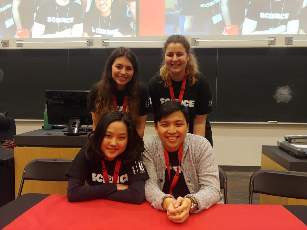 Four science student ambassadors.
