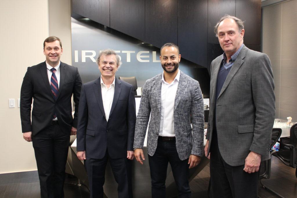 From left: Maksym Stolyarevsky, Marshall McCall, Samer Bishay and EJ Janse van Rensburg