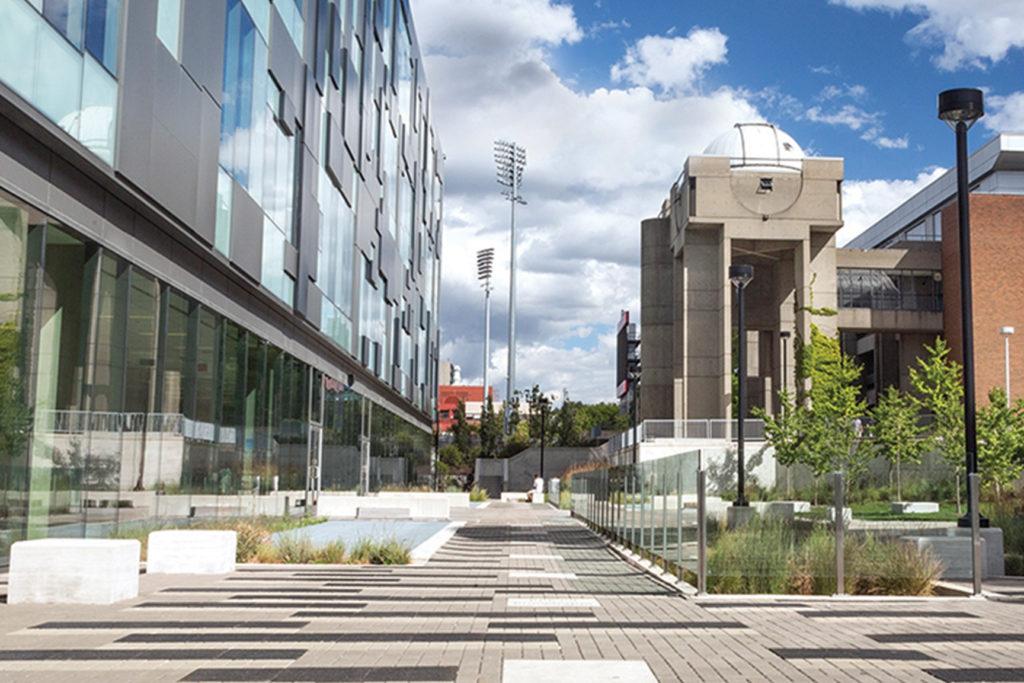 York campus science buildings.