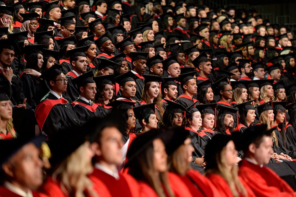 Graduation audience.