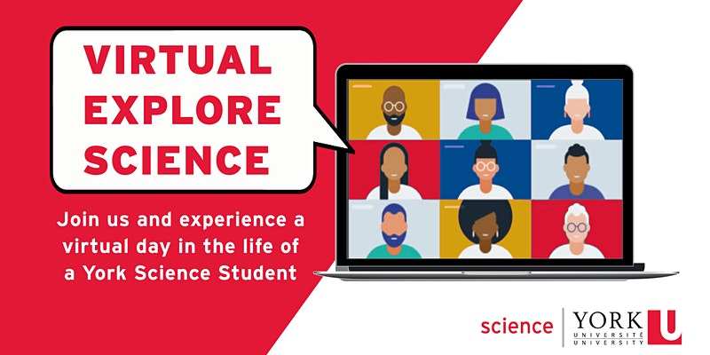 Virtual Explore Science Event Banner
