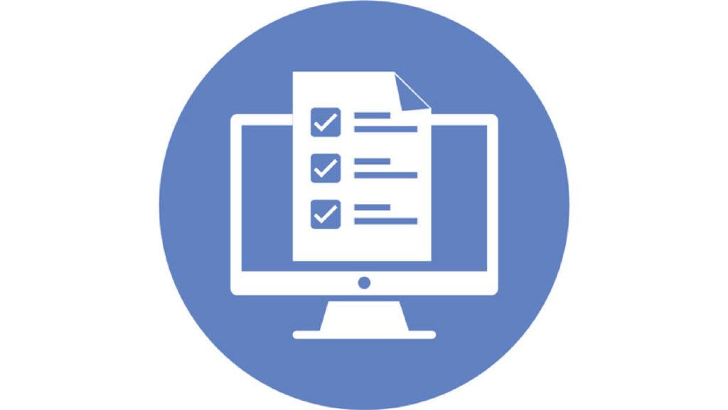 Online Exams button