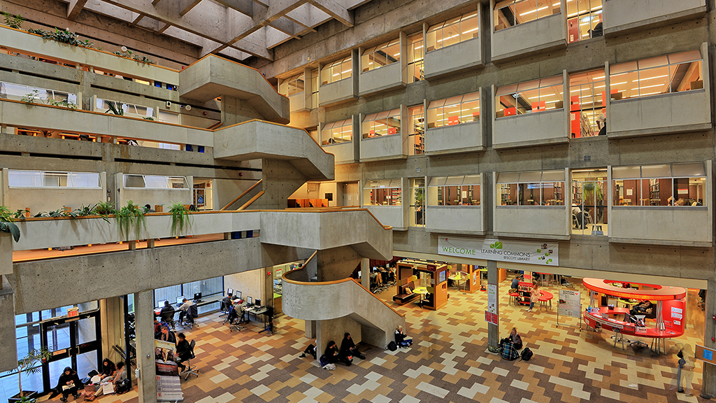 Scott Library Atrium at York University