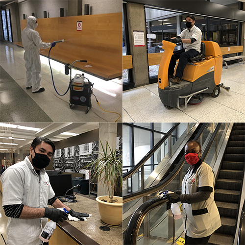 York University's Custodial Services staff are deep into clean with environmentally safe products
