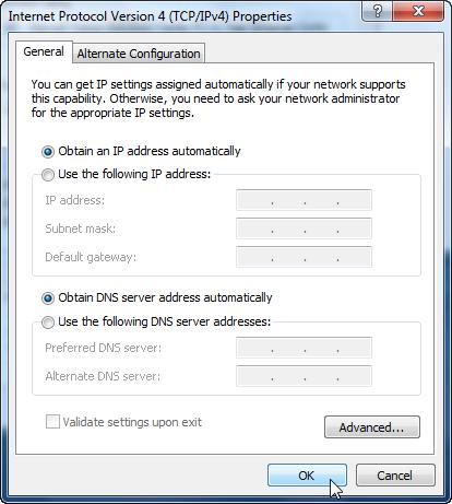screenshot of internet protocol version 4 properties window