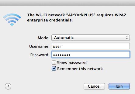 Screenshot of Authentication Window