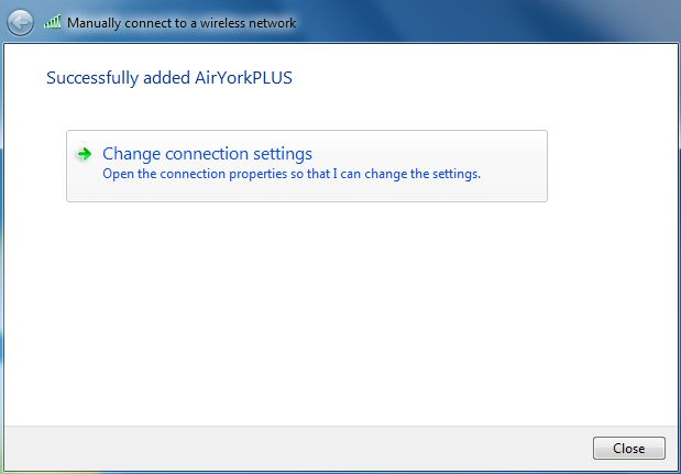 screenshot of showing successful addition of AirYorkPLUS