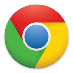 Icon of Google Chrome linked to download page for the application