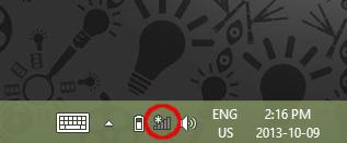 Screenshot showing Wireless Icon