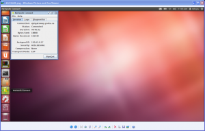 Screenshot of window showing Network Connect Lock Icon