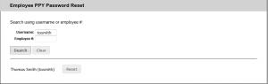 Screenshot of popup showing Username Lookup