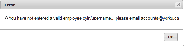 Screenshot of popup showing Search by Student number or username