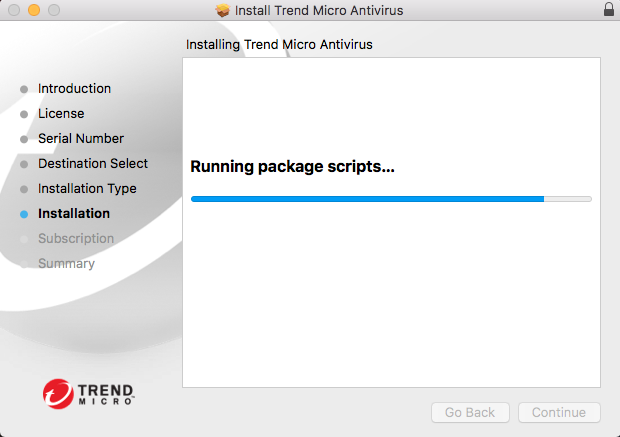 Screenshot of window showing package scripts