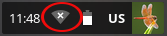screenshot of wifi icon in the system tray